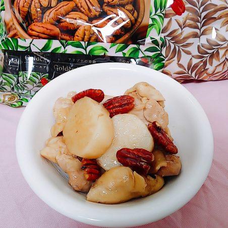 鶏と長芋のピーカン煮